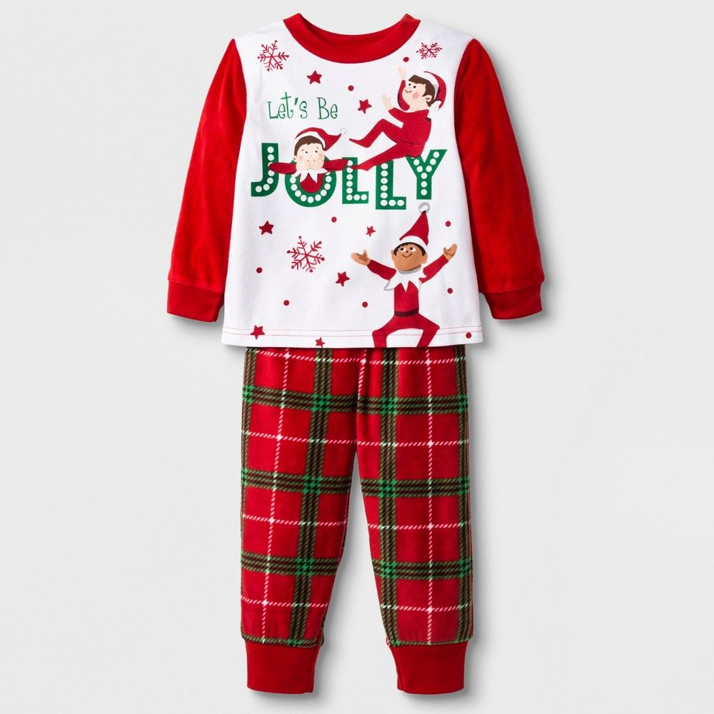 8adaf014ed He ll be in the holiday spirit when you dress him in the Elf on the Shelf  2-Piece Pajama Set. This Christmas pajama set includes red plaid pajama  pants that ...