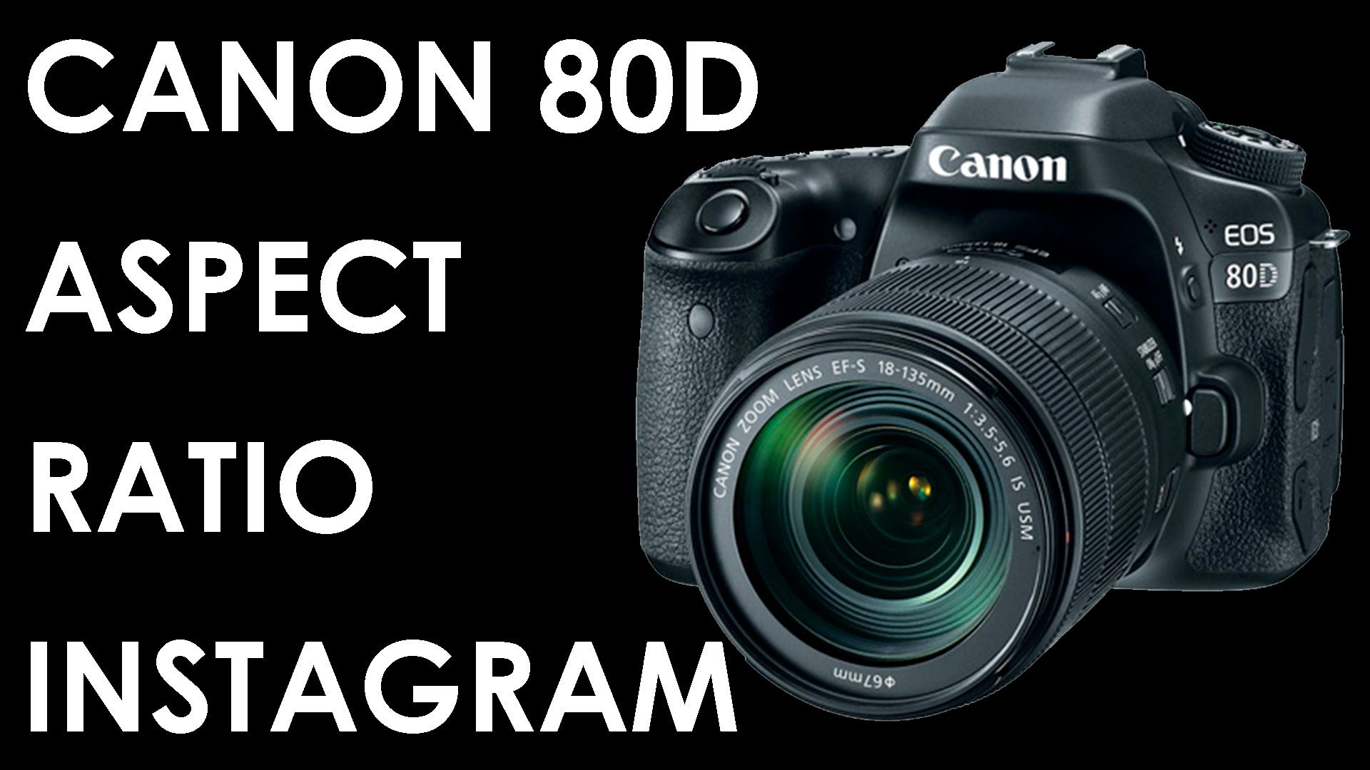 Canon 80D How to change aspect ratio quickly | Sharing pictures made