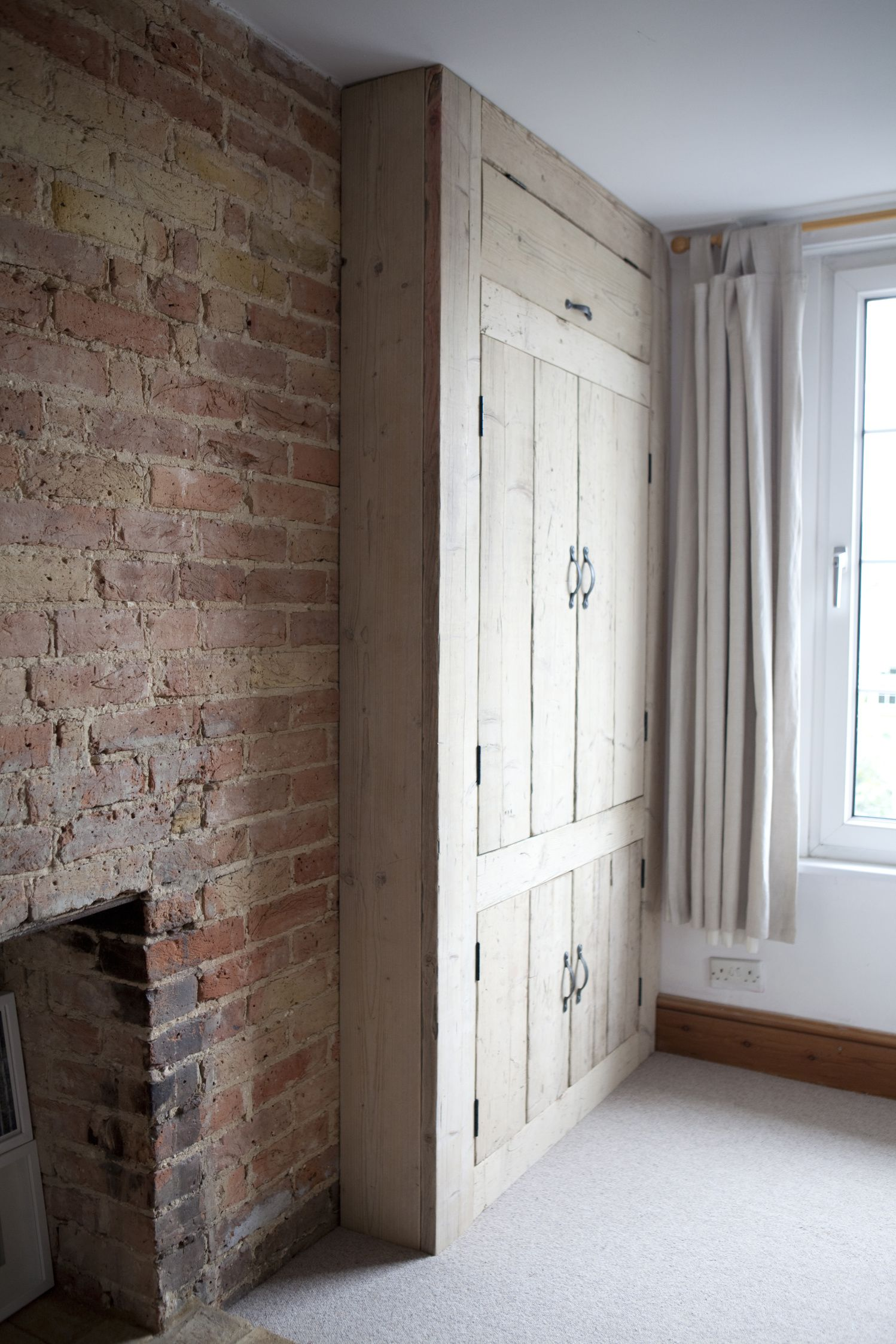 Lovely Built In Rustic Wardrobe Made From Reclaimed Wood. And I Love Bricks  Like This