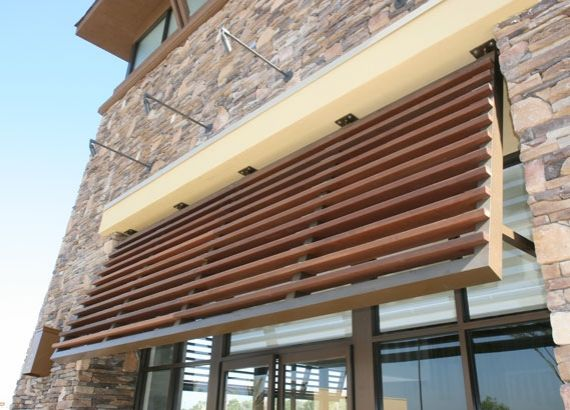 aluminum and wood awning | House awnings, Shutters ...