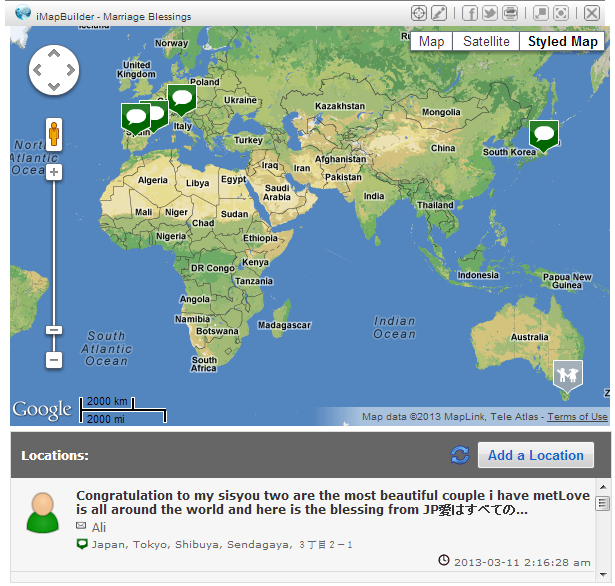 World Map Making Software.Clickable Heat Map Countries Pope Paul Vi Has Visited Custom
