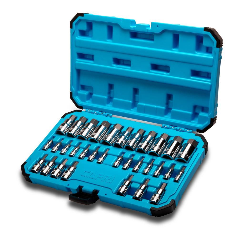 1//2-Inch Drive Capri Tools 3//4-Inch Hex Bit Socket SAE