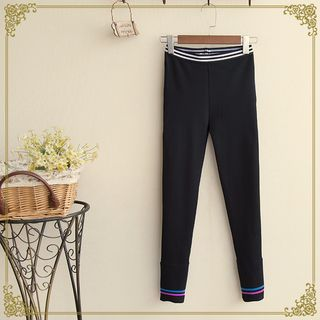 Buy 'Fairyland – Striped Trim Leggings' with Free International Shipping at YesStyle.com. Browse and shop for thousands of Asian fashion items from China and more!