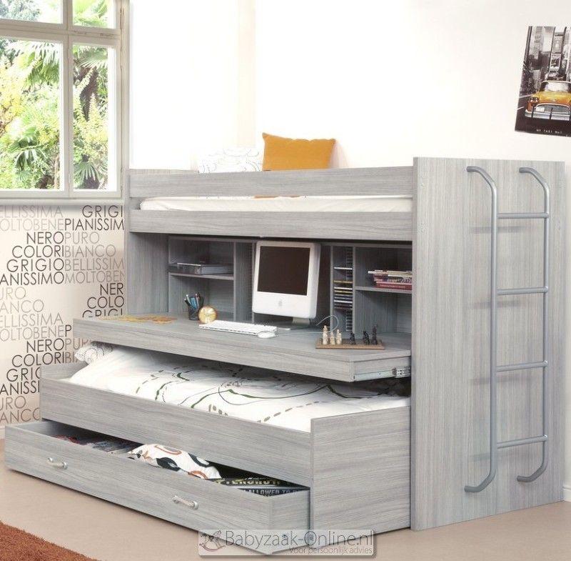 Meubar oslo hoogslaper uit te breiden met logeerbed en lades c2 meubels en interieur - Hoogslaper tiener met kantoor en opslag ...