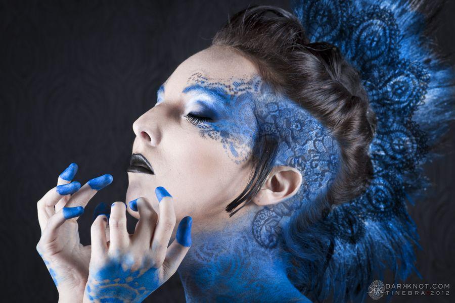 Black & Blue Lace