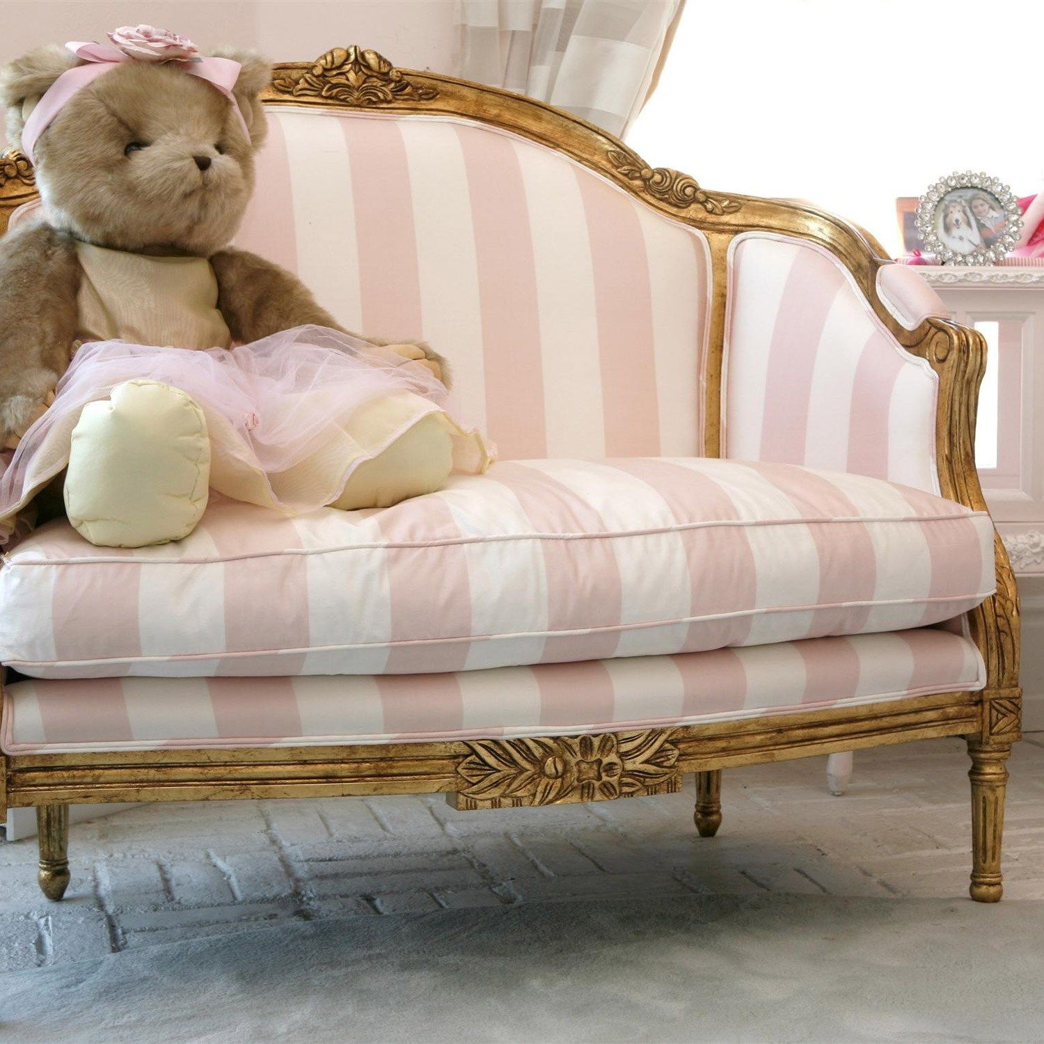 Kids Furniture  AFK Camilla Chair Antiqued Gold laylagrayce