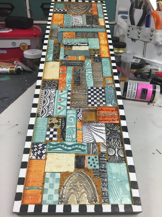 Polymer Clay Tiled Mosaic Wall Art -- Handmade Polymer ...