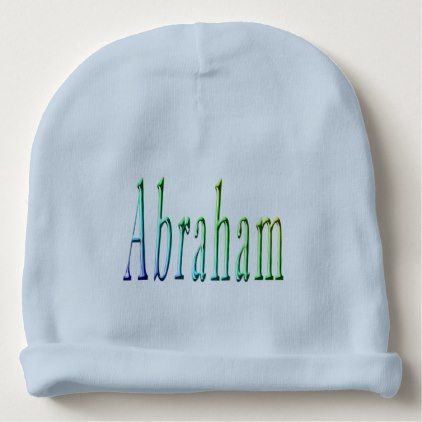 Abraham name logo baby boys blue cotton beanie boy gifts gift abraham name logo baby boys blue cotton beanie boy gifts gift ideas diy unique negle Choice Image