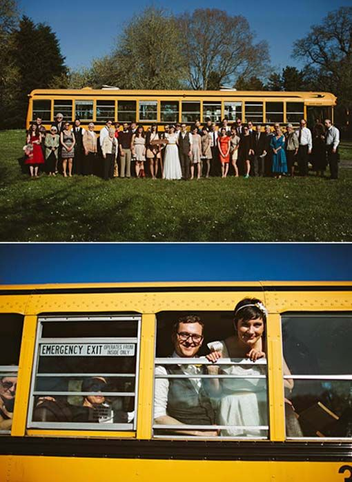School Bus Wedding Transportation Plectrumbanjo Info