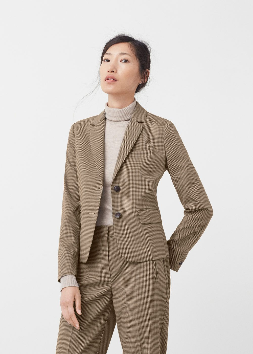 Veste de costume à carreaux - Femme   cet hiver 17   Pinterest ... ebc37fdaed5a