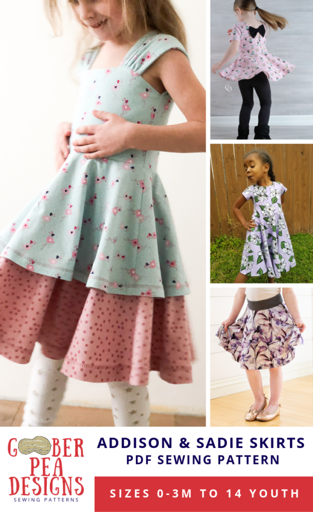 2ce99b54a Circle skirt printable pdf pattern, versatile add-on pattern, add one or  more