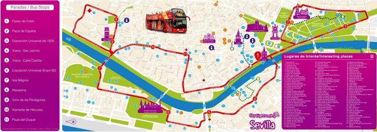 Seville sightseeing map | Seville, Map, Tourist map