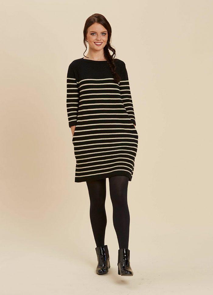 Breton Stripe Nursing Dress (With images) | Nursing dress