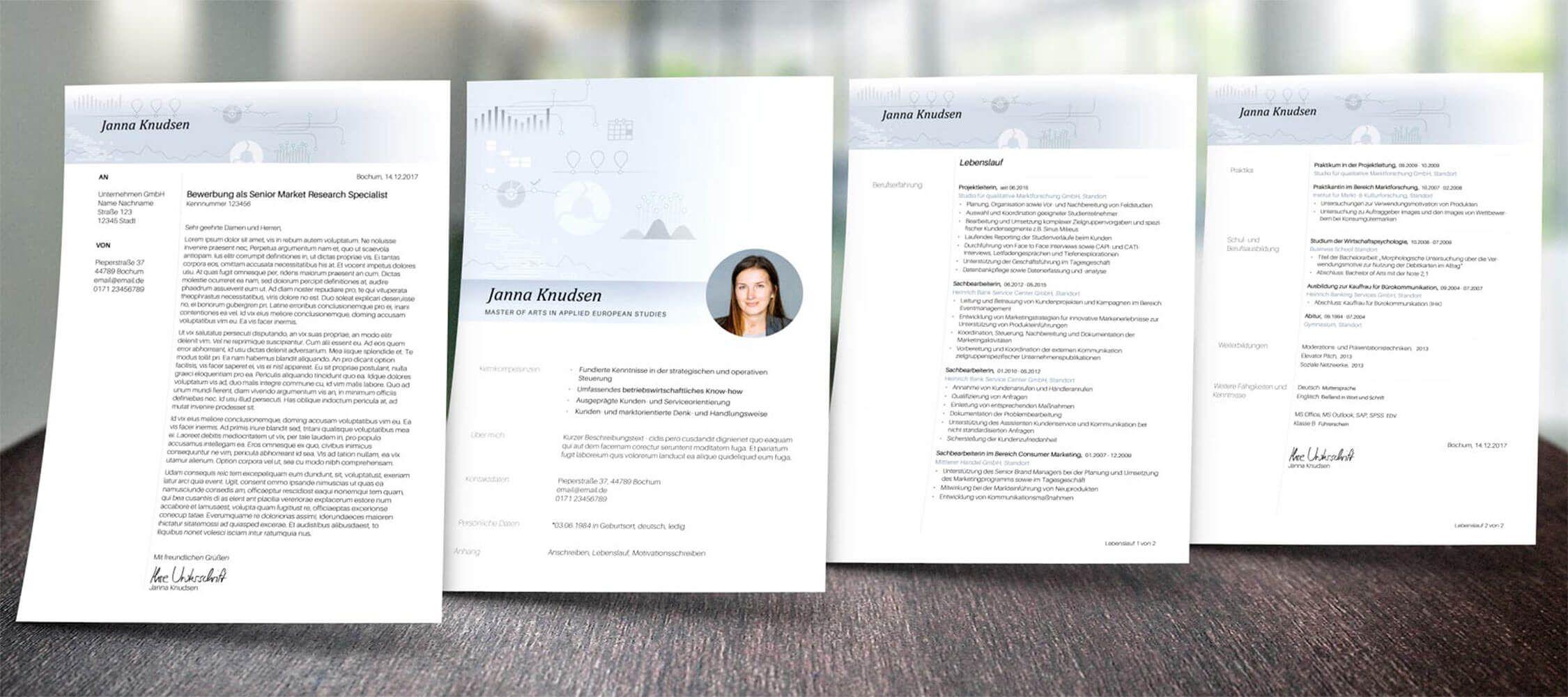 unsere schlichtes und professionelles bewerbungsdesign projektmanager inkl deckblatt anschreiben - Anschreiben Lebenslauf