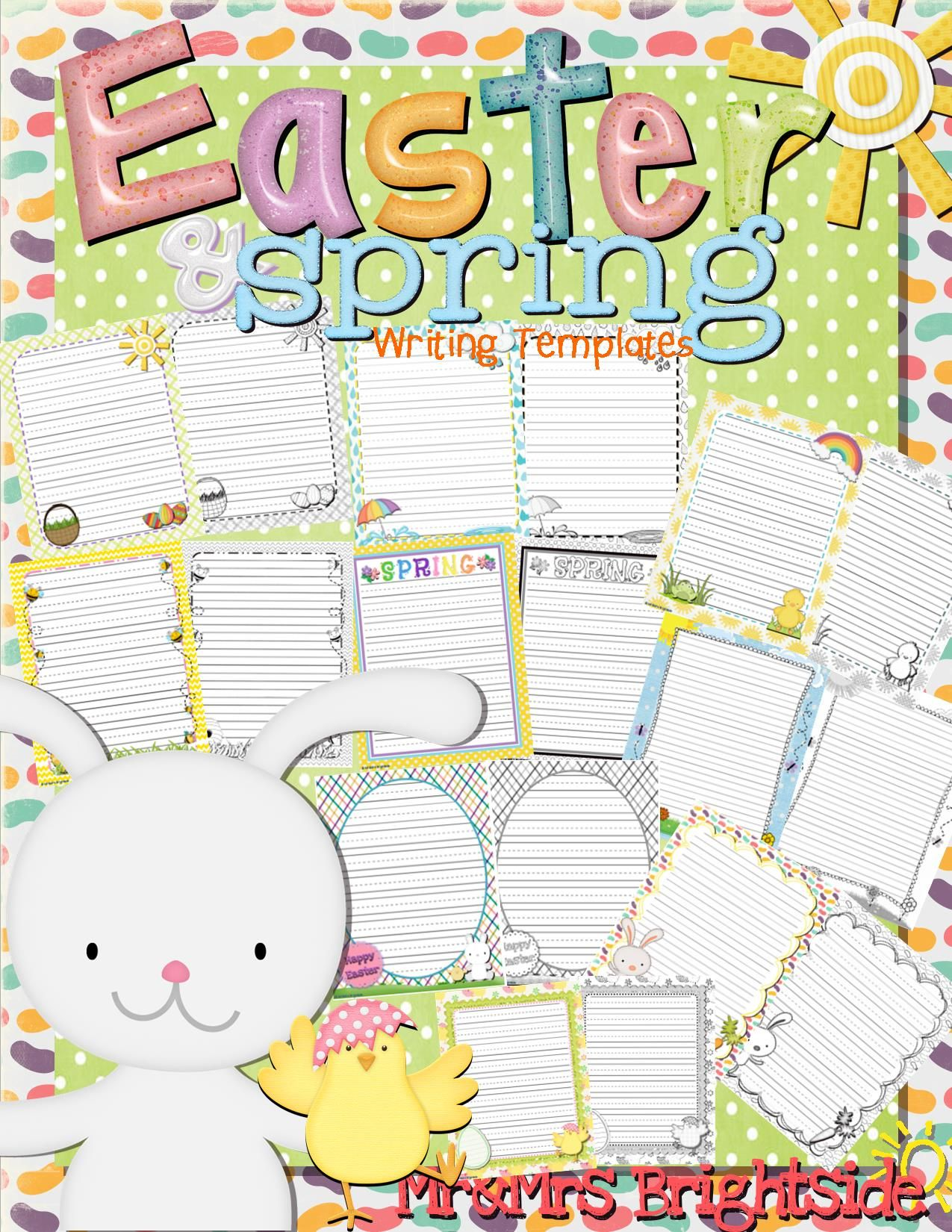 Spring And Easter Writing Journal Sheets It Includes 36