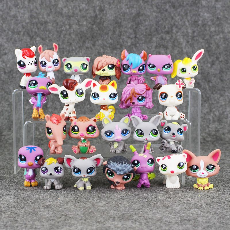 Colours Spec Q A Etc Etc: 24ピース/ロットアニメかわいい動物qペットショップアクションフィギュアコレクションおもちゃスケールモデル子供の