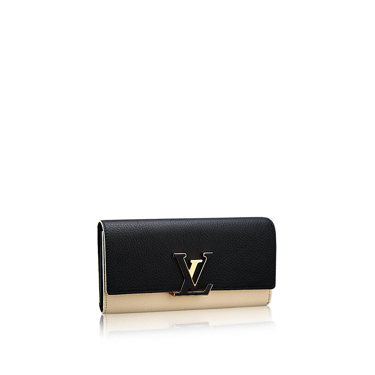 Capucines wallet taurillon leather in womens small
