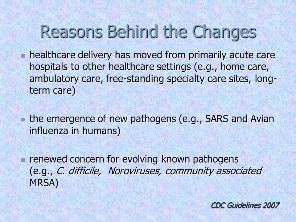 4 Reasons Behind the Changes Acute care hospital
