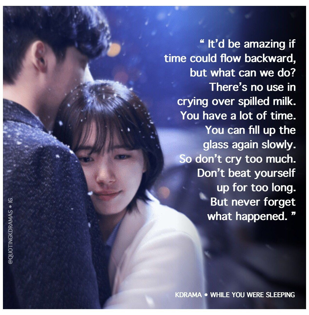 while you were sleeping quotes