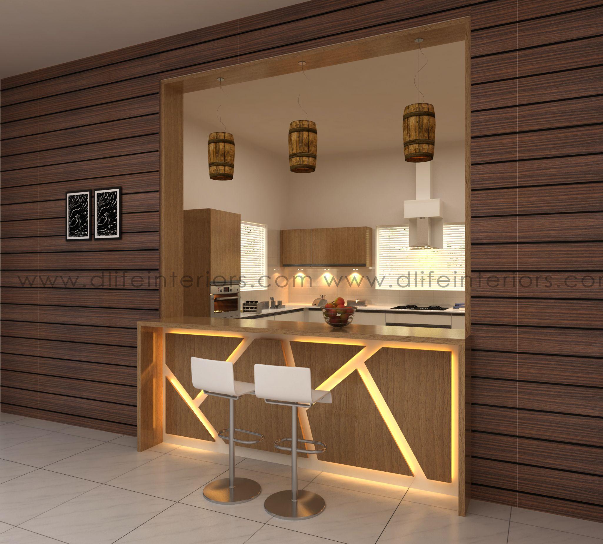 Contemporary Kerala Kitchen Work Area Design - WOWHOMY