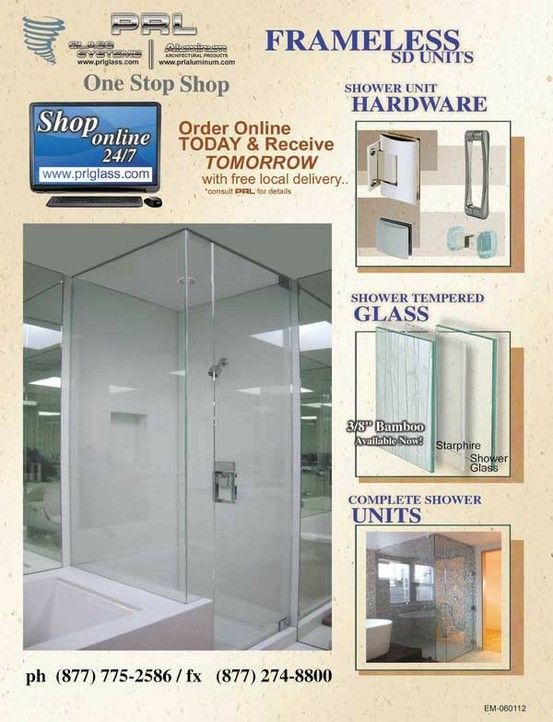 Frameless Tub Enclosures - Shower Sliders PRL offers our very own ...