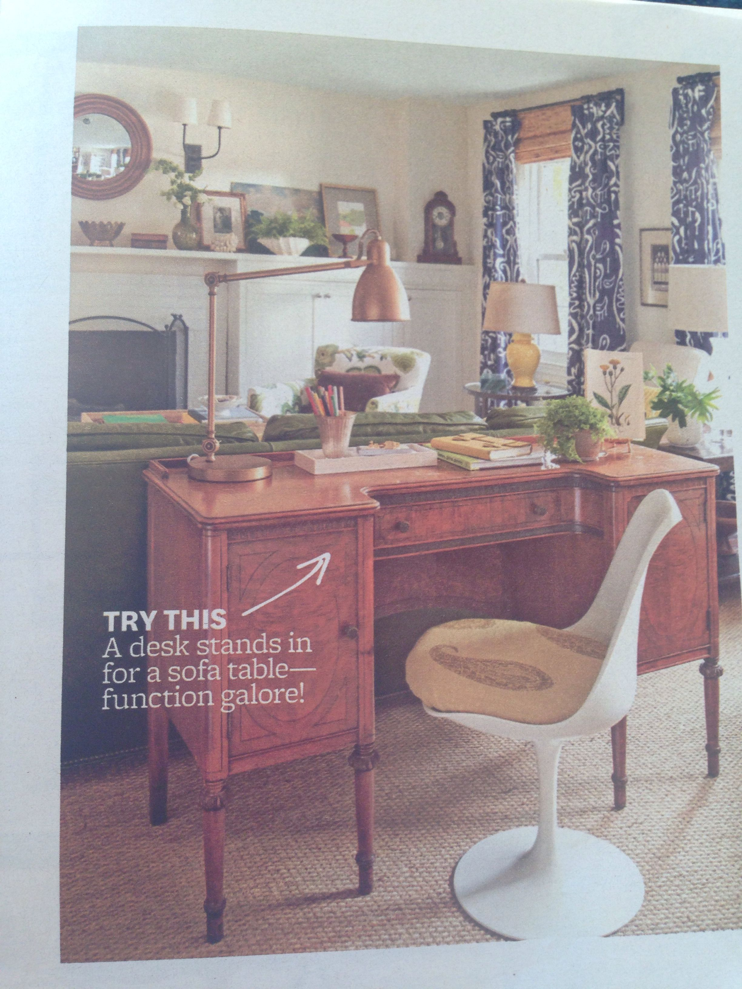Better Homes And Garden March 2014 Narrow Living Room