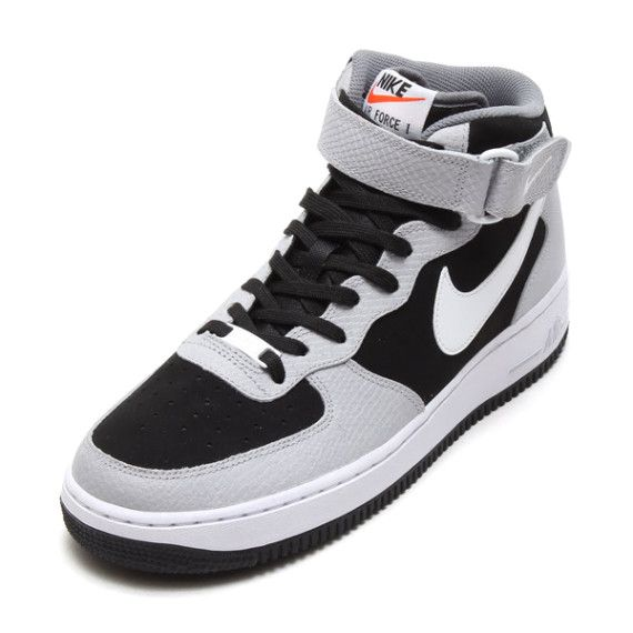 detailed look 7cf0f 42a1e  Nike Air Force 1 Mid - Black Wolf Grey-Cool Grey  sneakers