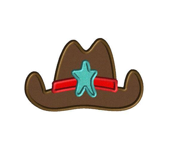 990f916e1c3 Cowboy Hat Machine Embroidery Applique Design-INSTANT DOWNLOAD ...