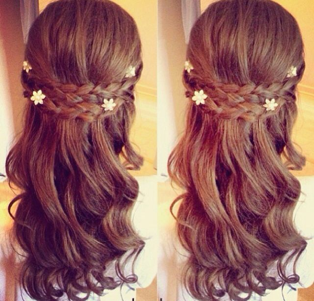 Hairstyles For Communion Upstyles: Flower Girl Hairstyles, Hair Styles
