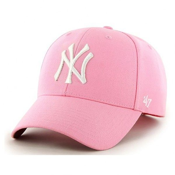 4a86a4e5a9 47 Brand New York Yankees MVP Cap Rose ( 25) ❤ liked on Polyvore featuring  accessories