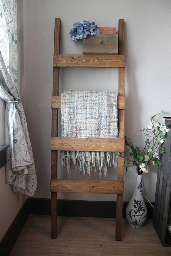 Farmhouse Farmhouse Ladder Ladder Reclaimed Stain Wood ...