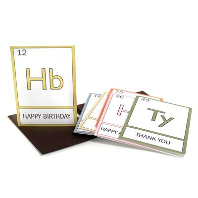 periodic table cards from Pink Love Brown