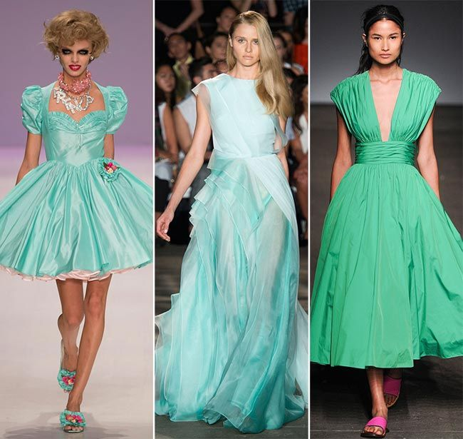 Spring/ Summer 2015 Color Trends: Lucite Green  #trends #fashiontrends #colortrends #green