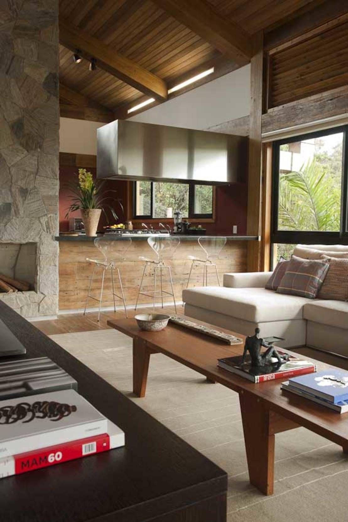 Casas rústicas de David Guerra Arquitetura e Interiores