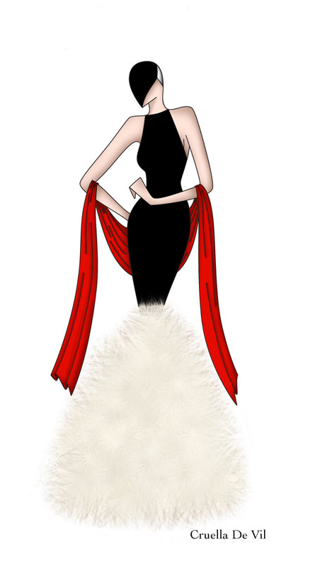 Femmes Cruella De Vil Disney Villain 101 Dalmations Costume Déguisement Tenue