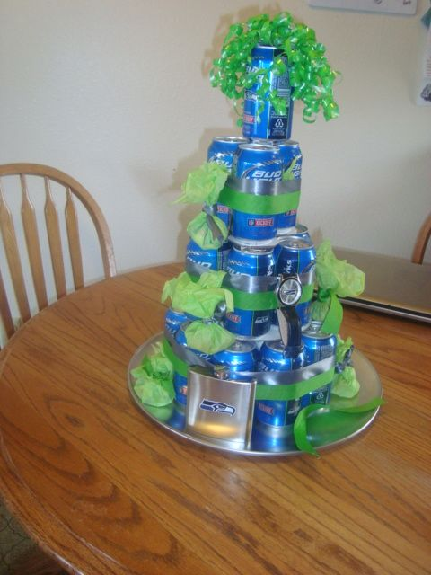 Beer cake i made for my boyfriends 21st birthday idea for my