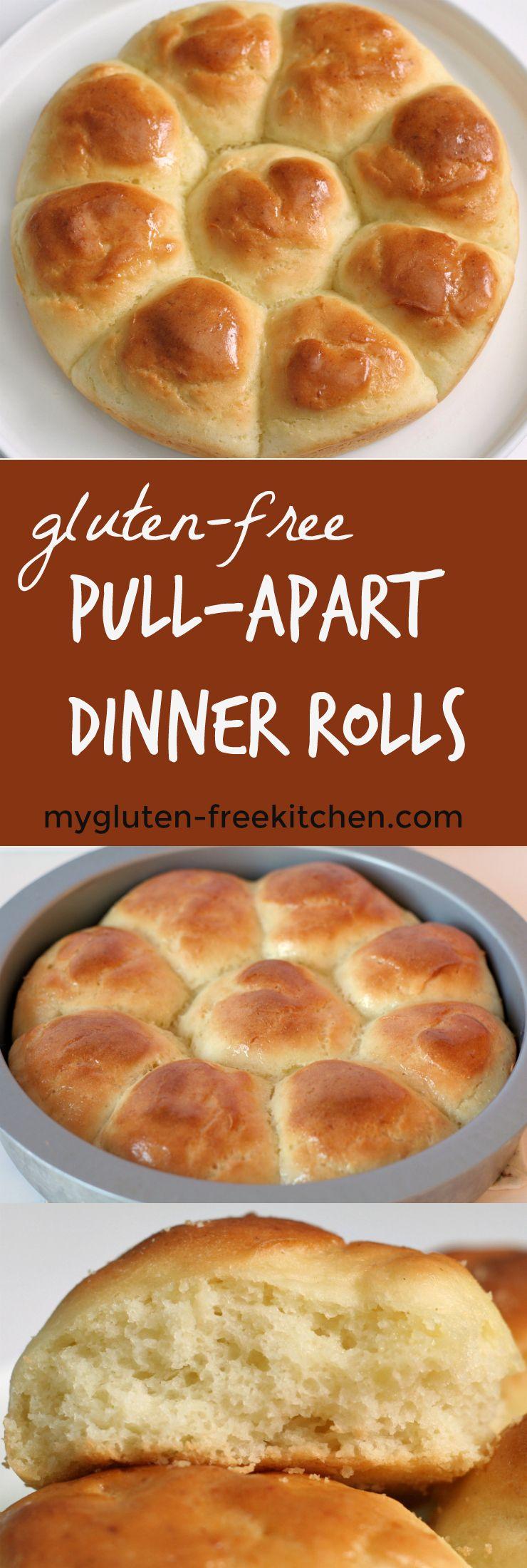 Gluten Free Pull Apart Dinner Rolls Recipe Foods With Gluten Gluten Free Dinner Rolls Gluten Free Thanksgiving