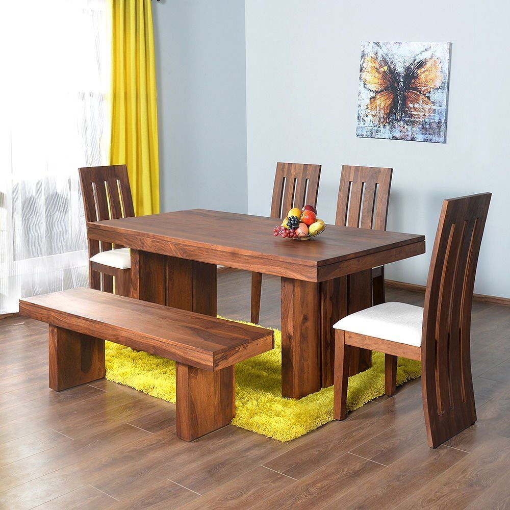 Home By Nilkamal Delmonte Six Seater Dining Table Set Brown