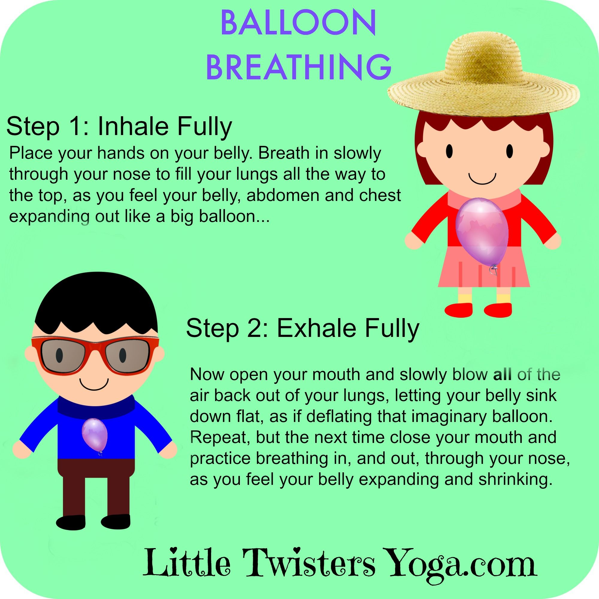Great Visual For Teaching Deep Belly Or Balloon Breathing To Kids Even As Young 2 Learn More Calming Tips At LittleTwistersYoga
