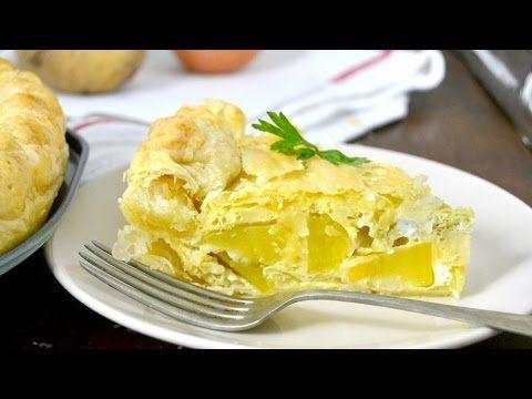 Hojaldre relleno de tortilla de patatas ¡Fácil y delicioso! | Cuuking! Recetas de cocina