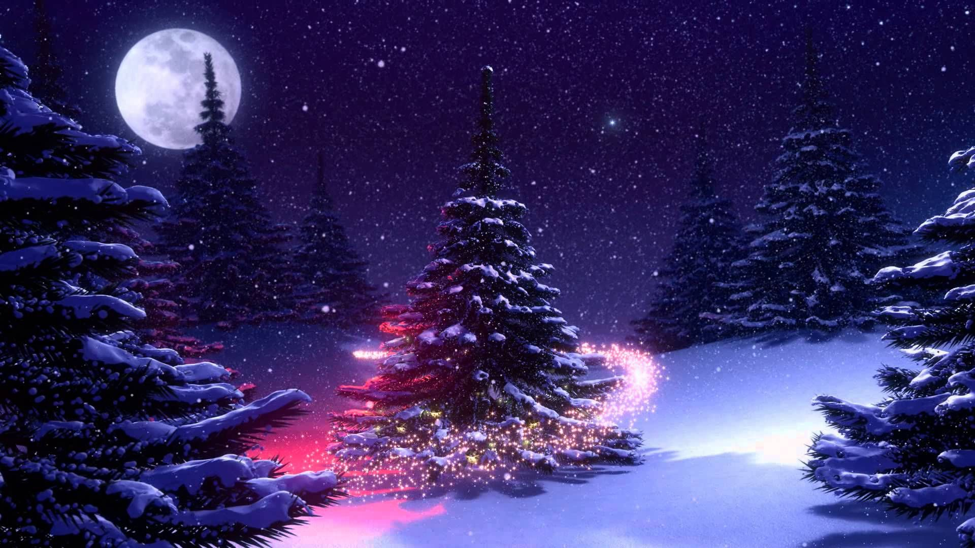 Fondos Navidad Animados: Fondos Animados Árbol De Navidad Nieve Full HD Animated