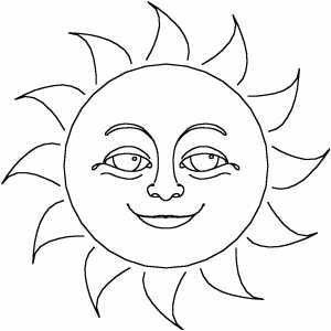 Sun Coloring Pages Printable Sun Coloring Pages Free Printables