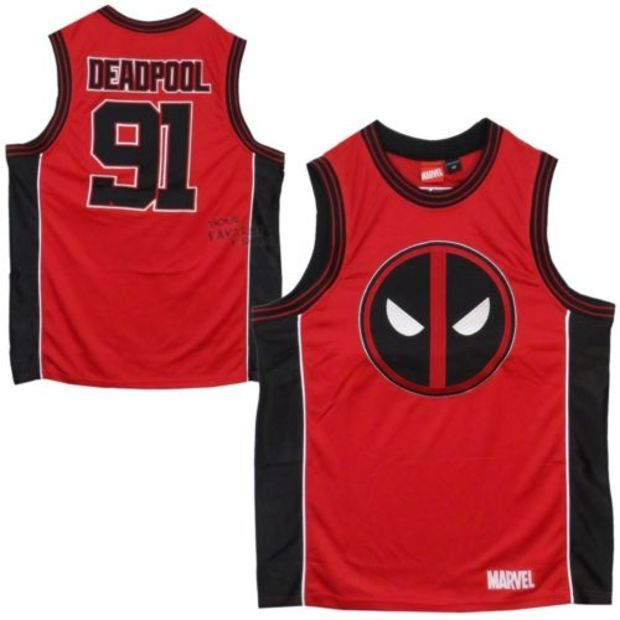 1a3f991972a Deadpool Wade Wilson Marvel Comics Licensed Basketball Jersey Tank Top S-XXL