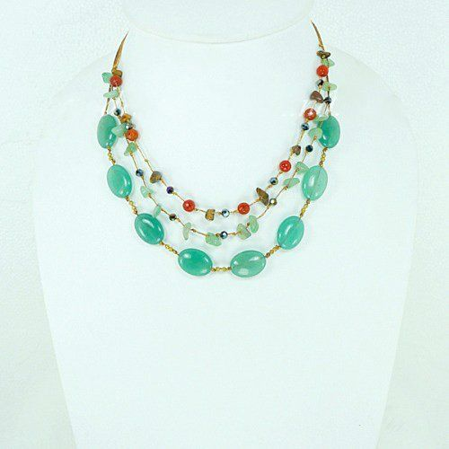 Green Smooth Oval Stone Necklace Unique Style Handmade Beaded Jewelry for Girls & Women Handiwork http://www.amazon.com/dp/B00LNTCR5S/ref=cm_sw_r_pi_dp_-TQVtb03PXR5AH02