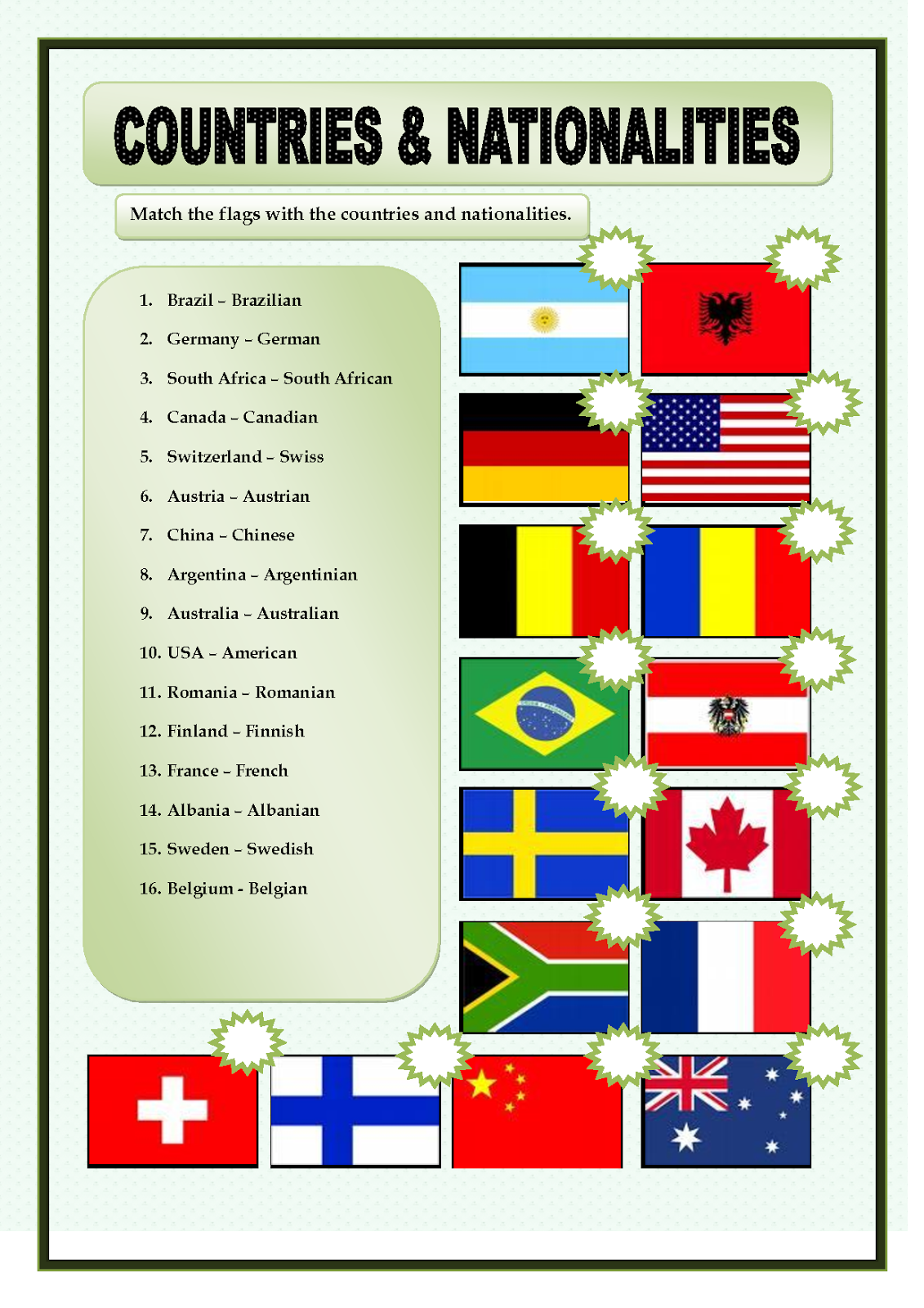 COUNTRIES AND NATIONALITIES - PowerPoint PPT Presentation