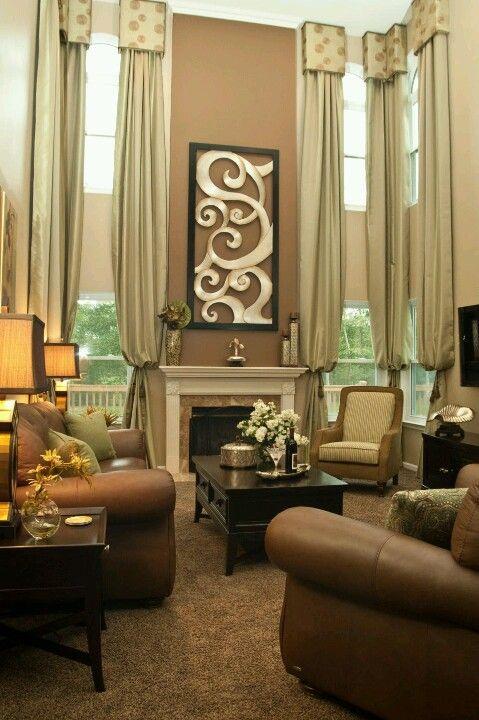 Home decor   Window treatments living room, Living room ...
