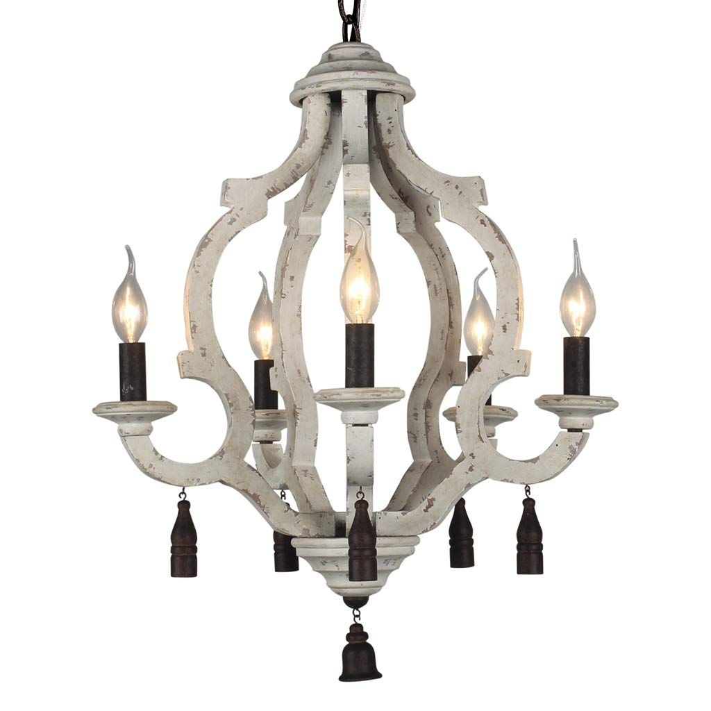 Docheer Vintage Rustic Metal Wooden Chandelier 5 Candle Holder Lights Wood Metal Chandeliers Pendant Ceil In 2020 With Images Pendant Ceiling Lamp Wood Chandelier Chandelier Decor