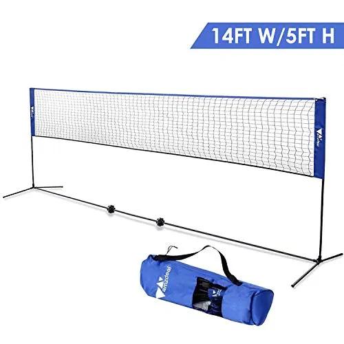 Badminton Net Portable Net For Kids Volleyball Tennis Pickleball Best Offer For Outdoorfull Com In 2020 Kids Volleyball Badminton Nets Volleyball