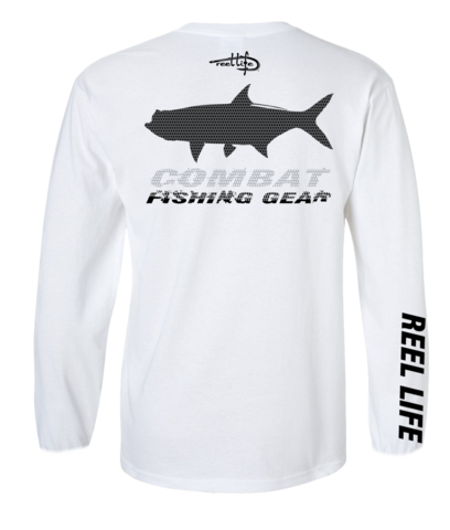 Eat, Sleep, Fish, Repeat Mens fishing shirt. 50 UPF