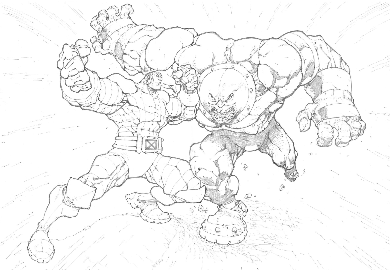Colossus Vs Juggernaut By Mikebowden Deviantart Com On Deviantart Art Comic Art Fans Cool Art